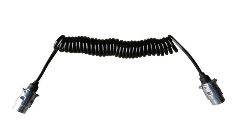aansluitkabel spiraal 7 polig 40mm