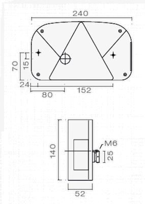 achterlicht 5 functies rechts aspock