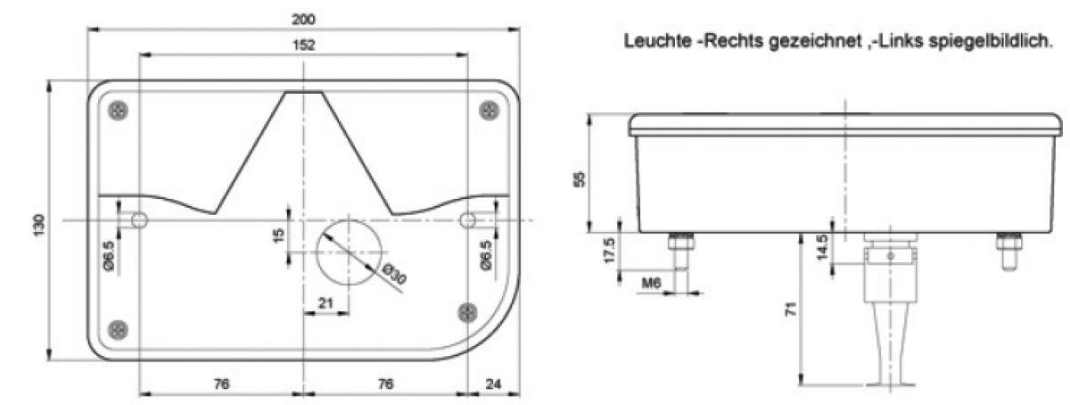 achterlicht 5 functies rechts connector jokon