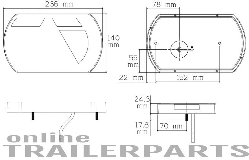 achterlicht 6 functies links 5 pin 12v