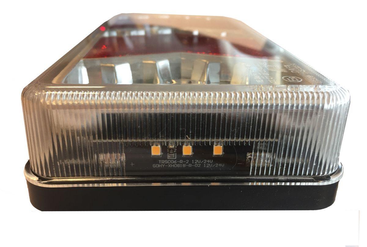 achterlicht 6 functies rechts glow in the dark 12v