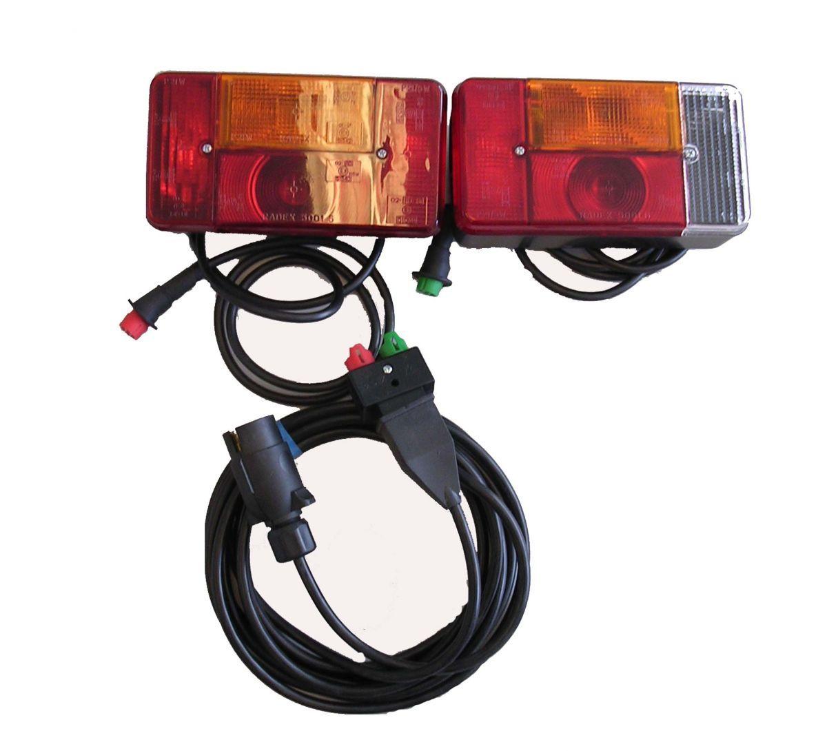 achterlicht set 7p kabel 5m radex