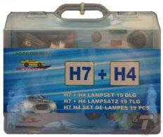 Auto reservelampen met H7 + H4 lamp 19-delig