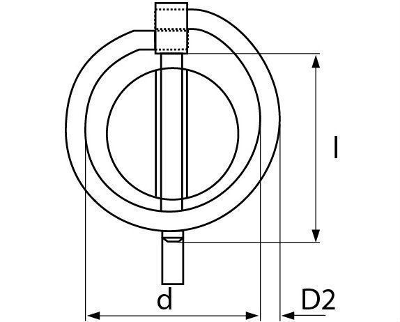 borgpen verzinkt 11 mm 6st