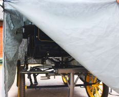 Hoes voor koets / trainingsgwagen klein