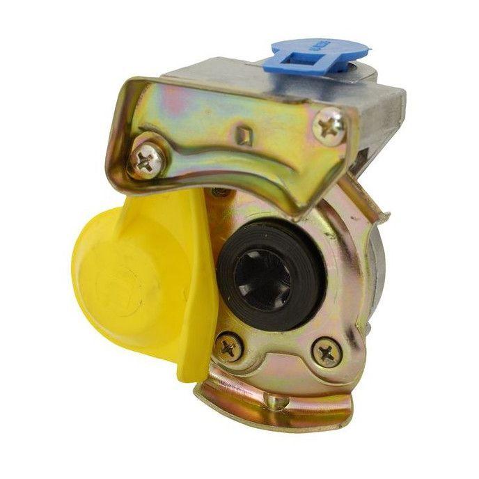 koppelstuk luchtspiraal m22 geel automaat