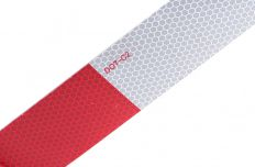 Reflecterend tape rood-wit
