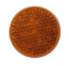 Reflector oranje schroefbaar Ø81