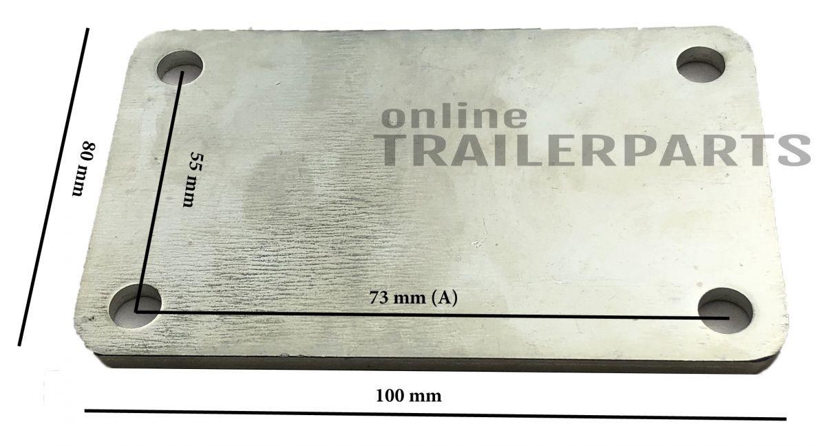 stroppenplaat dubbel 43mm