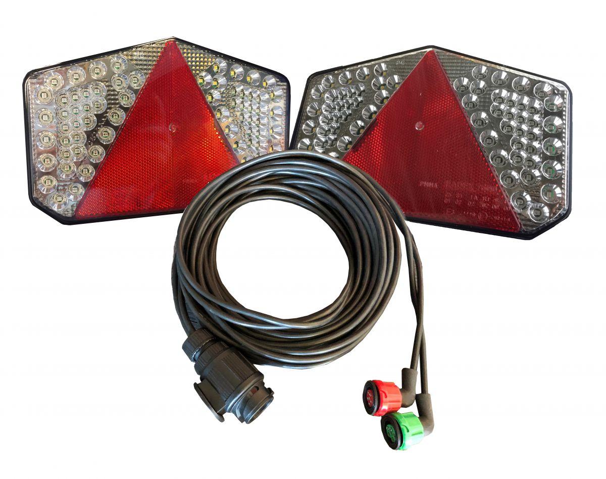 verlichtingsset led kabellengte 8 meter 13p 12v