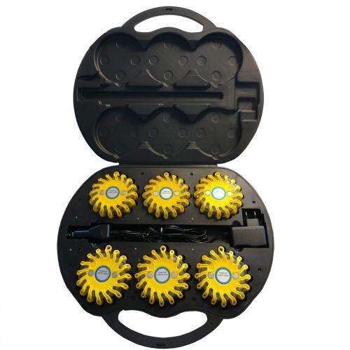 Waarschuwingslamp per set van 6 stuks in koffer verkrijgbaar